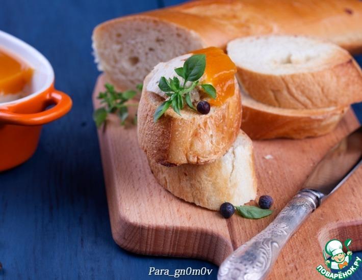 Рецепт: Паштет из индейки с пряным абрикосовым желе