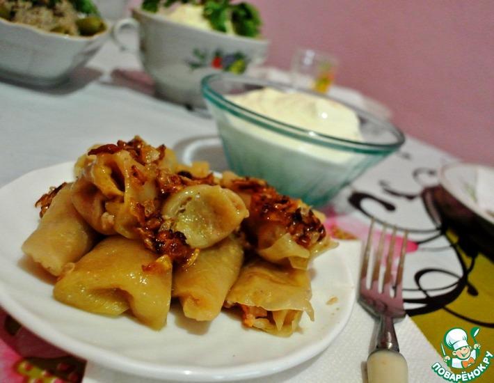 Рецепт: Голубцы из квашеной капусты