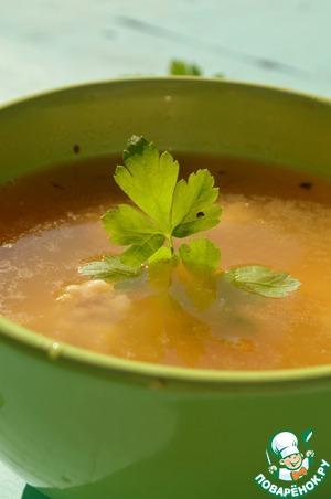 Рецепт Гороховый суп со свининой и базиликом