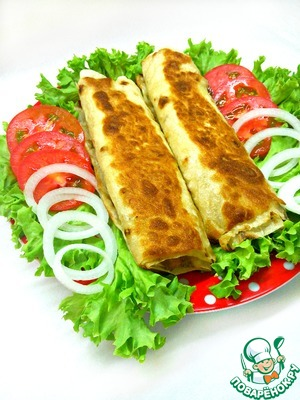 Lavash rolls with cheese