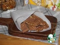 Шоколадные батончики с мюсли и пралине ингредиенты