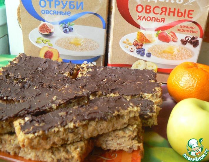 Рецепт: Сливочные батончики под горьким шоколадом