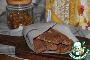 Рецепт Быстрые шоколадные батончики с мюсли и пралине