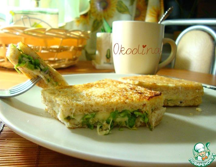 Рецепт: Сэндвич с сыром и зеленью