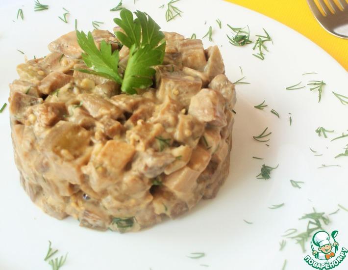 Рецепт: Баклажаны в сливочном соусе