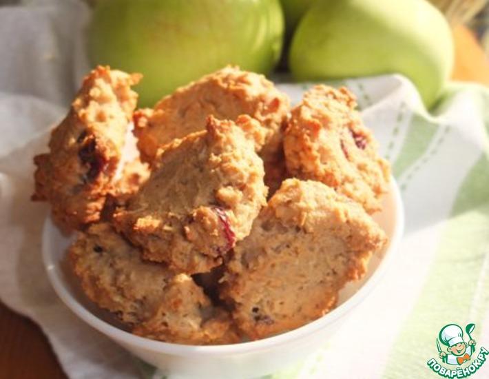 Рецепт: Овсяное печенье с вяленой вишней