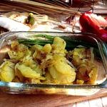 Картофель с копченым салом в СВЧ