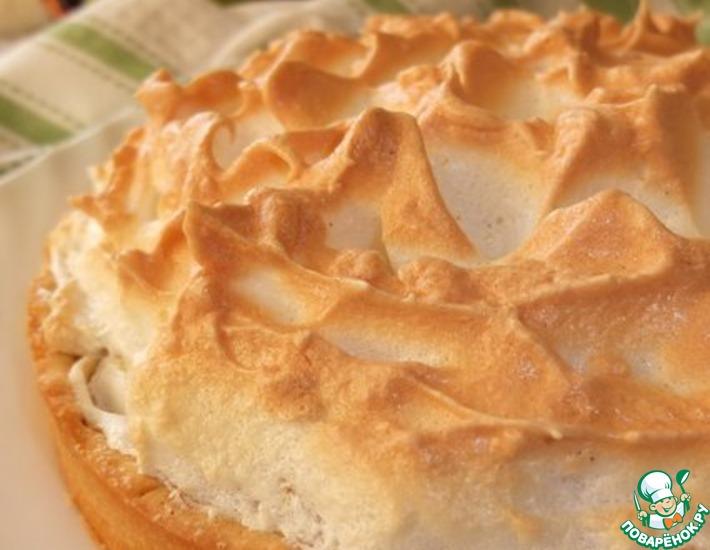 Рецепт: Яблочный пирог с ванильной меренгой