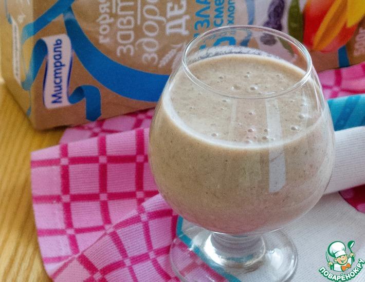 Рецепт: Молочный грушево-банановый смузи