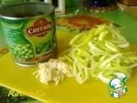 Суп-пюре с горошком, пореем и крутонами ингредиенты
