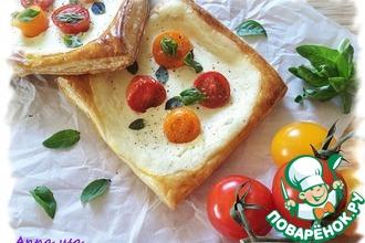 Рецепт: Мини тарты с рикоттой и помидорками