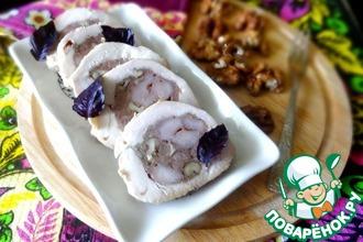 Рецепт: Куриные грудки с колбасками-гриль