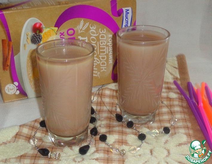 Рецепт: Какао-коктейль с овсяными хлопьями