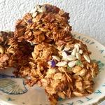 Овсяное печенье с курагой и яблоками
