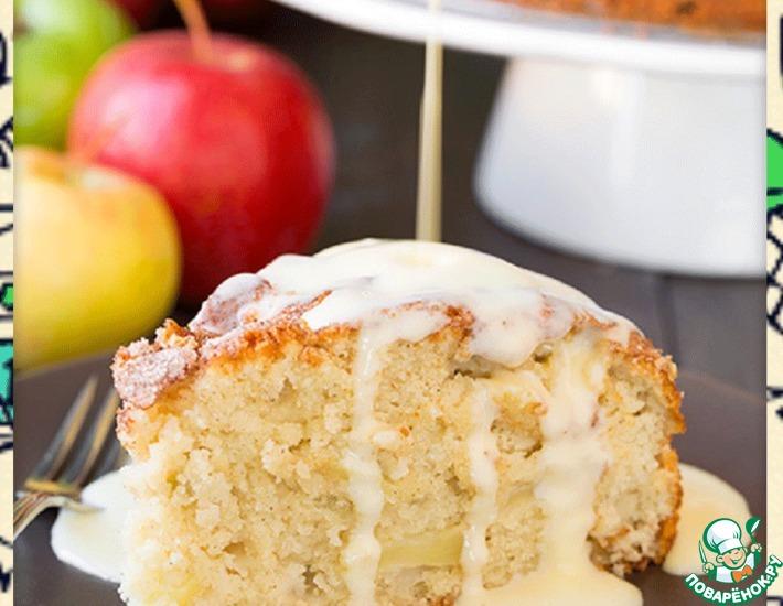 Рецепт: Ирландский яблочный пирог с заварным кремом