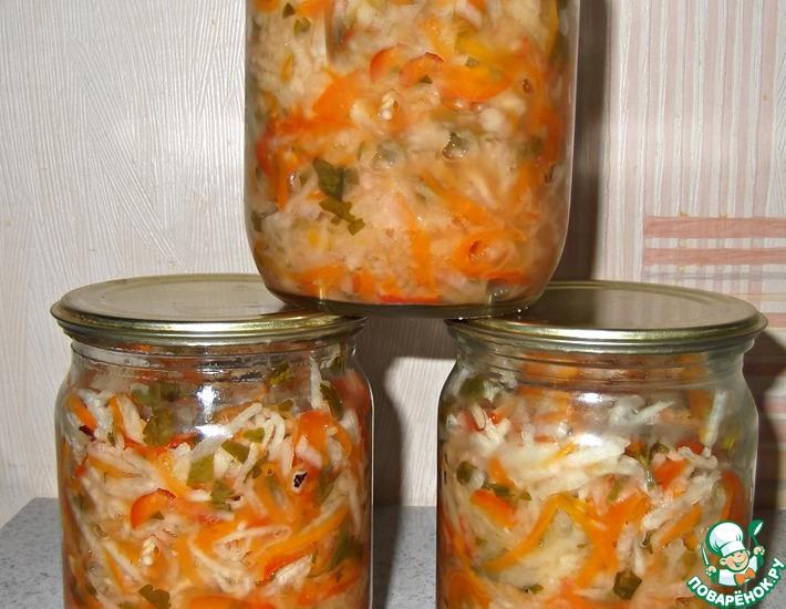 Рецепт: Салат из редьки на зиму