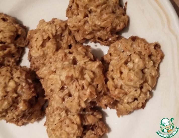 Рецепт: Геркулесовое печенье Ежики