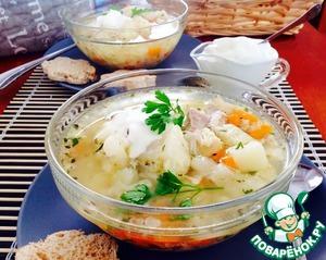 Суп куриный с цветной капустой