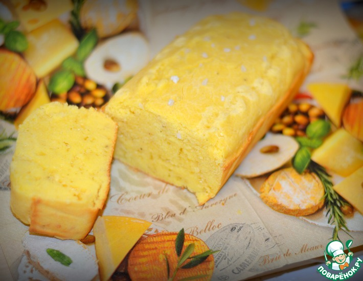 Рецепт: Кукурузно-сырный пирог-кекс