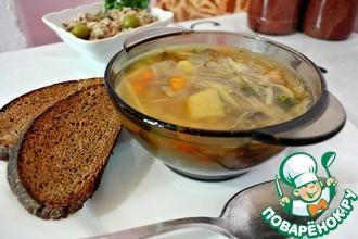 Рецепт: Диетический капустный суп