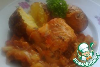 Рецепт: Микромесист на овощной подушке с французской горчицей
