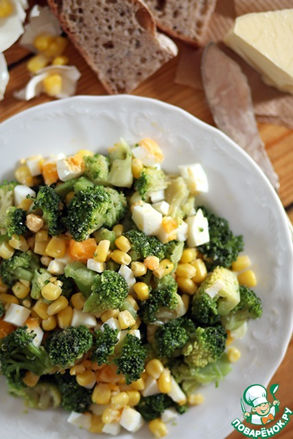 Салат с брокколи и кукурузой рецепт с фото очень вкусный — pic 6