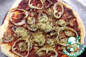 Рецепт: Пицца в микроволновке Грибная