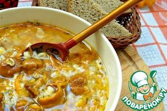 Рецепт: Овсяный суп с грибами