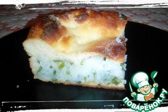 Рецепт: Закрытый пирог с рисом и зеленью