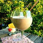 Молочный коктейль Пломбир с клубникой