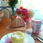 Яблоко печёное в СВЧ с творогом и овсянкой