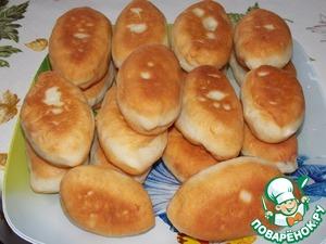 Pirozhkova the dough quick without lifting