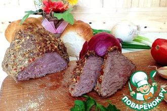 Рецепт: Говядина бутербродная Уколотая в СВЧ