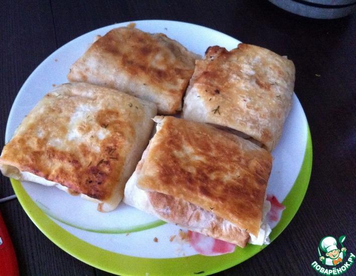 Рецепт: Конвертики из лаваша
