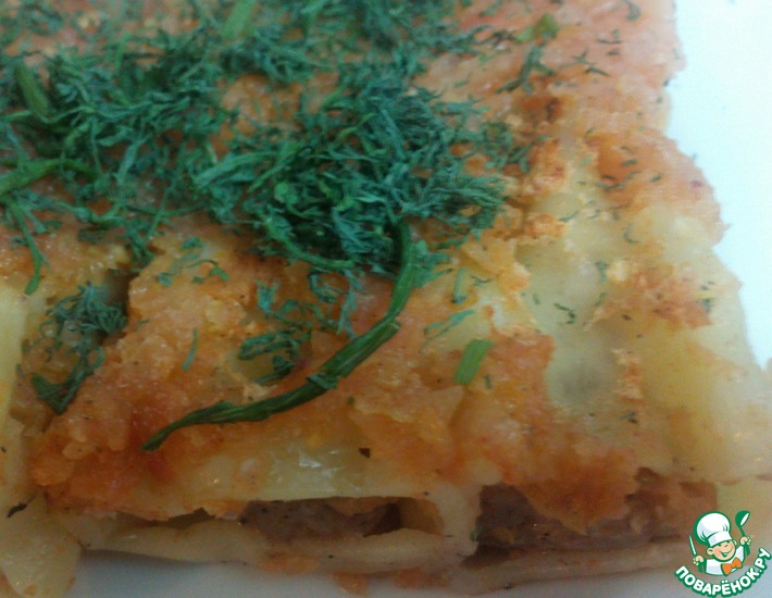 Рецепт: Паста Каннеллони де семолина