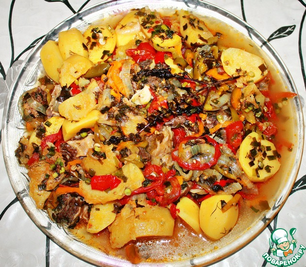 Блюда в казане на костре - 48 рецептов - 1000.menu | 550x630