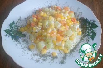 Рецепт: Овощи в сливках