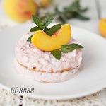 Пирожные из персиков с рисовым кремом