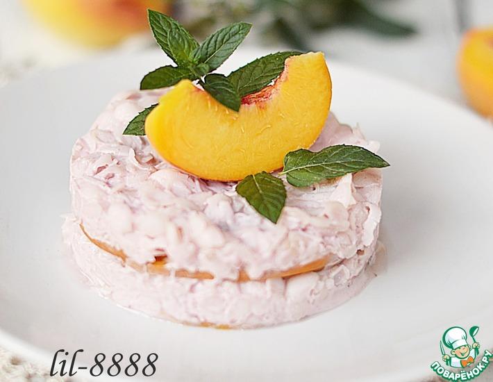 Рецепт: Пирожные из персиков с рисовым кремом