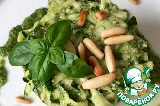 Рецепт: Салат из цукини с соусом Песто