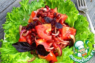Рецепт: Салат с красной фасолью и помидорами