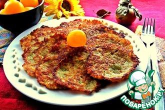 Рецепт: Картофельные драники с кабачком и яблоком