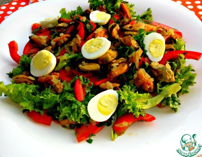 рецепты салатов с мидиями