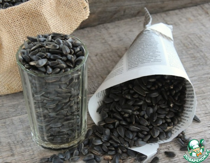 Рецепт: Жареные семечки в микроволновке
