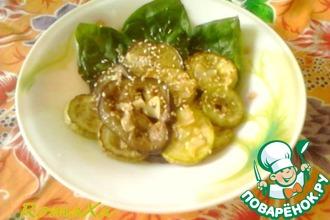 Рецепт: Теплый салат из баклажанов и кабачков с карри
