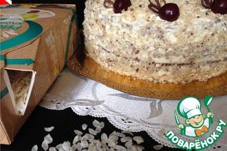 Рецепт: Вацлавский торт с рисовым грильяжем