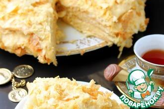 Рецепт: Персиковый крем для торта Наполеон