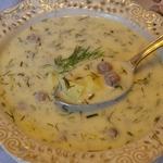 Румынский укропный суп с фрикадельками