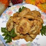 Куриная печень в воздушном кляре