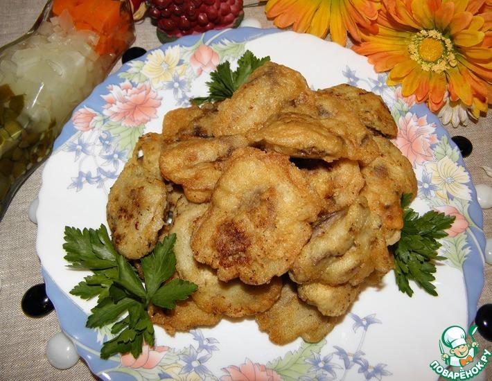 Рецепт: Куриная печень в воздушном кляре
